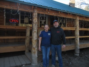 Steve and Susan Holloway, owners of the Silver Dollar Grill, Yellow Pine, ID