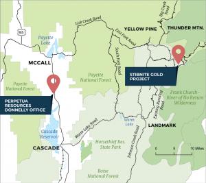 Stibnite Site Map